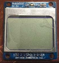 Load image into Gallery viewer, Nokia 5110 LCD 84x48 w PCD8544 3.3v/5v w soldered Headers for Arduino, Raspberry, nodeMCU