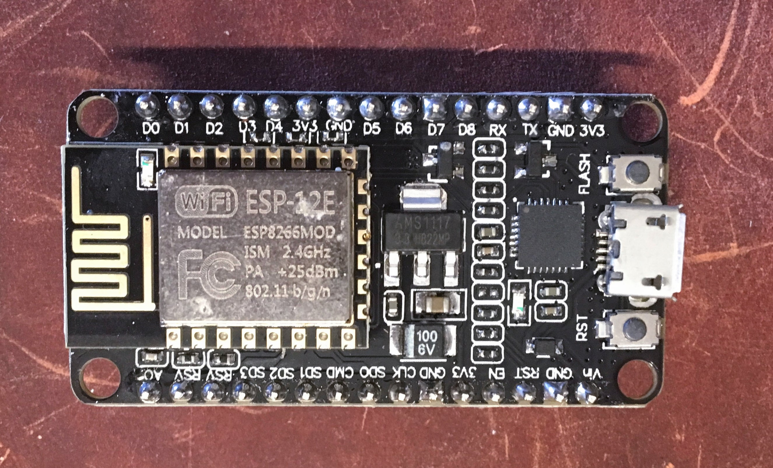 nodeMCU ESP8266 CP2102 V3 Mongoose OS - IoT - AWS, Google IoT, Azure, Watson - Server On The Move
