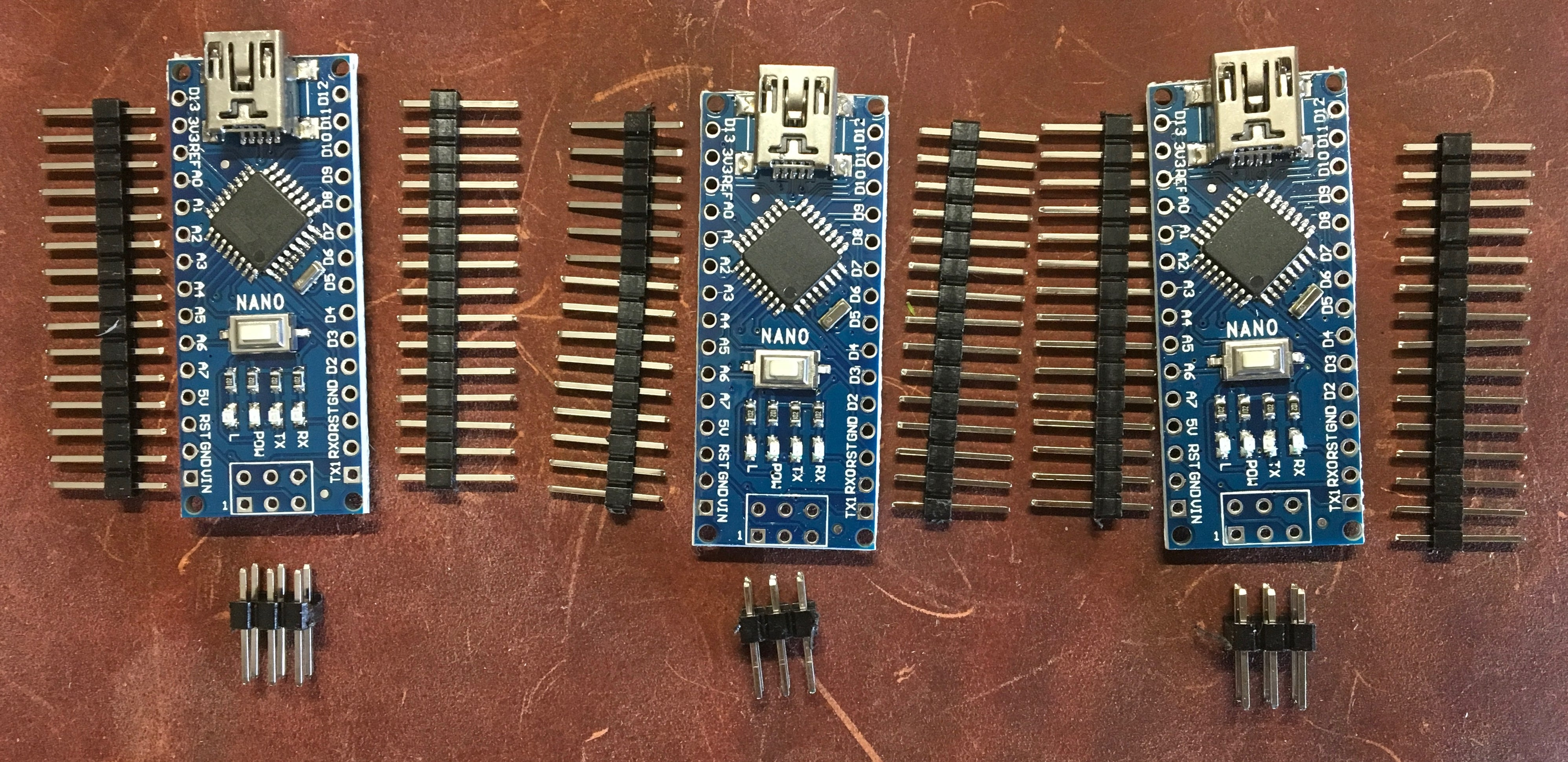 3x Arduino Nano v3 compatible ATMega328P with 2019 16Mhz Bootloader Optiboot - Server On The Move