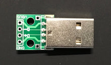 Load image into Gallery viewer, USB Male to Dip 2.54mm DIP adapter board - breadboard friendly