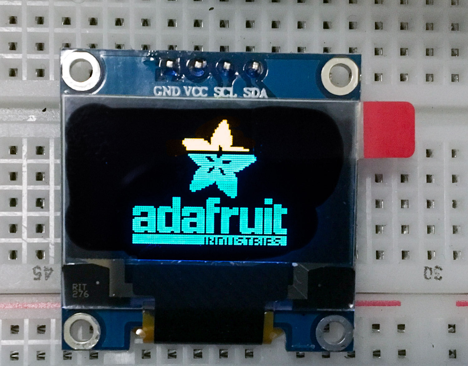 "OLED Display 0.96"" 128x64 Yellow Blue I2C IIC SSD1306 Arduino Raspberry Pi - Server On The Move"