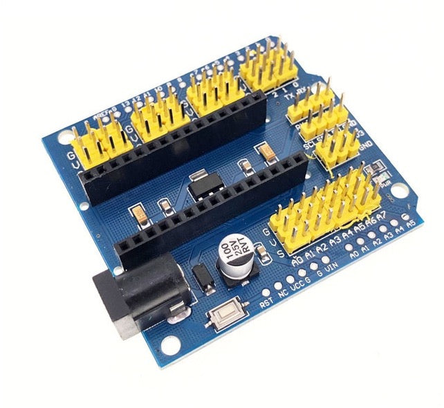Expansion Breakout Board Shield for Arduino Nano and Arduino Uno - Server On The Move