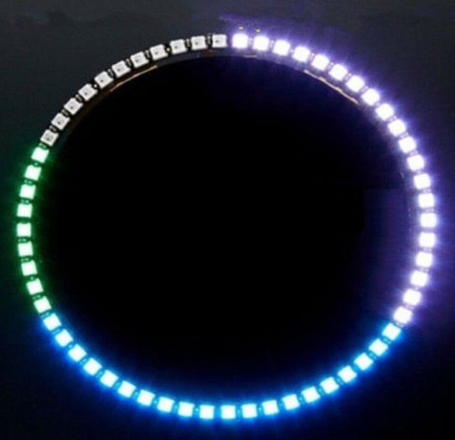 60 RGB LED Ring - Ultra Bright - WS2812 5050 RGB LED - Clock