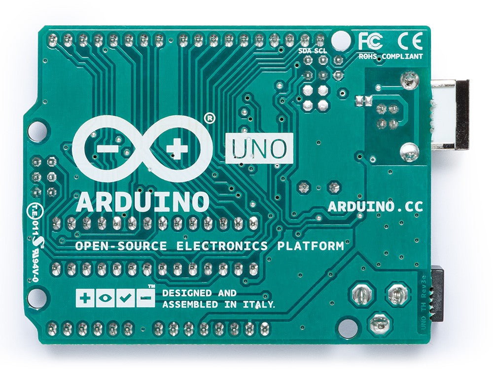 Genuine Arduino Uno Rev 3 with Original Case and Stickers - Server On The Move