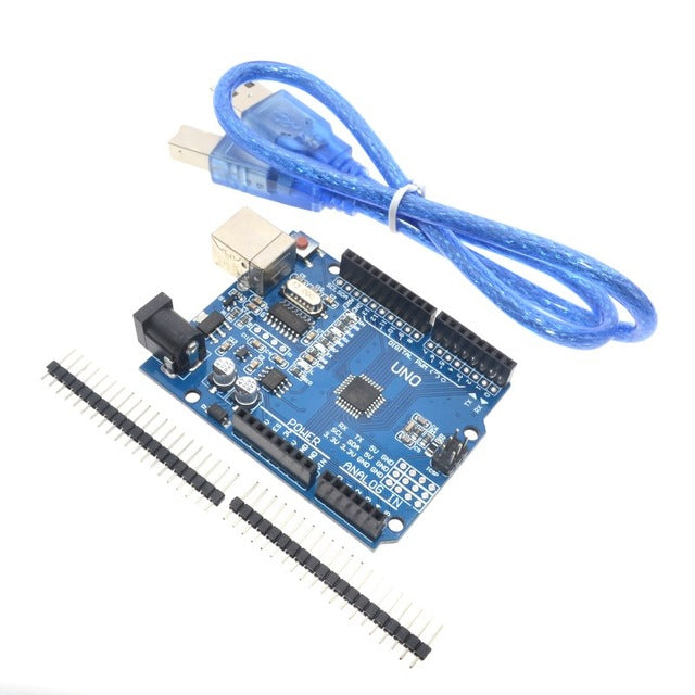 Improved Uno R3 Arduino Compatible 16Mhz board with additional breakouts