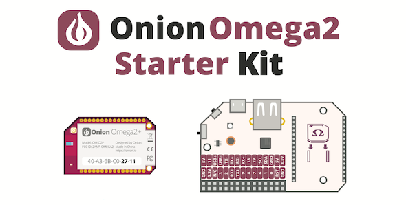 Onion Omega2+ Starter Kit - IoT - OpenWRT Linux Kit - Server On The Move