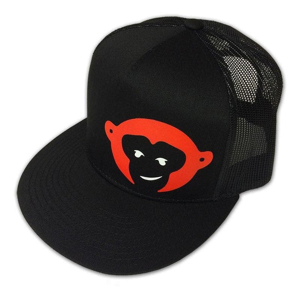"RedMonkey Sports ""Monkey face"" 5-Panel Flat Bill Snapback Hat - RedMonkey Sports"