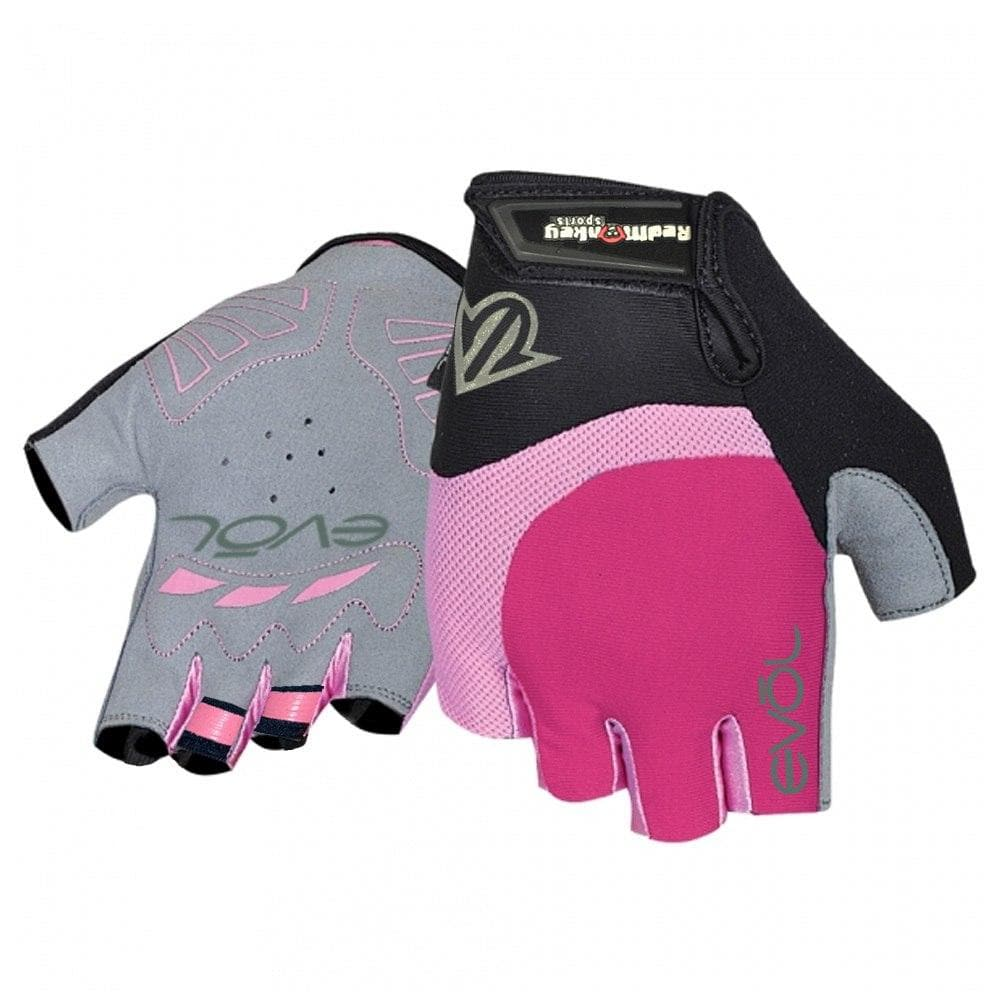 WOMEN/'S SPORTS CYCLING BICYCLE HALF FINGER GLOVE AMARA SILICONE GEL PALM PINK