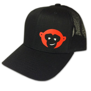 "RedMonkey Sports ""Monkey face"" 6-Panel Curved Bill Snapback Hat - RedMonkey Sports"