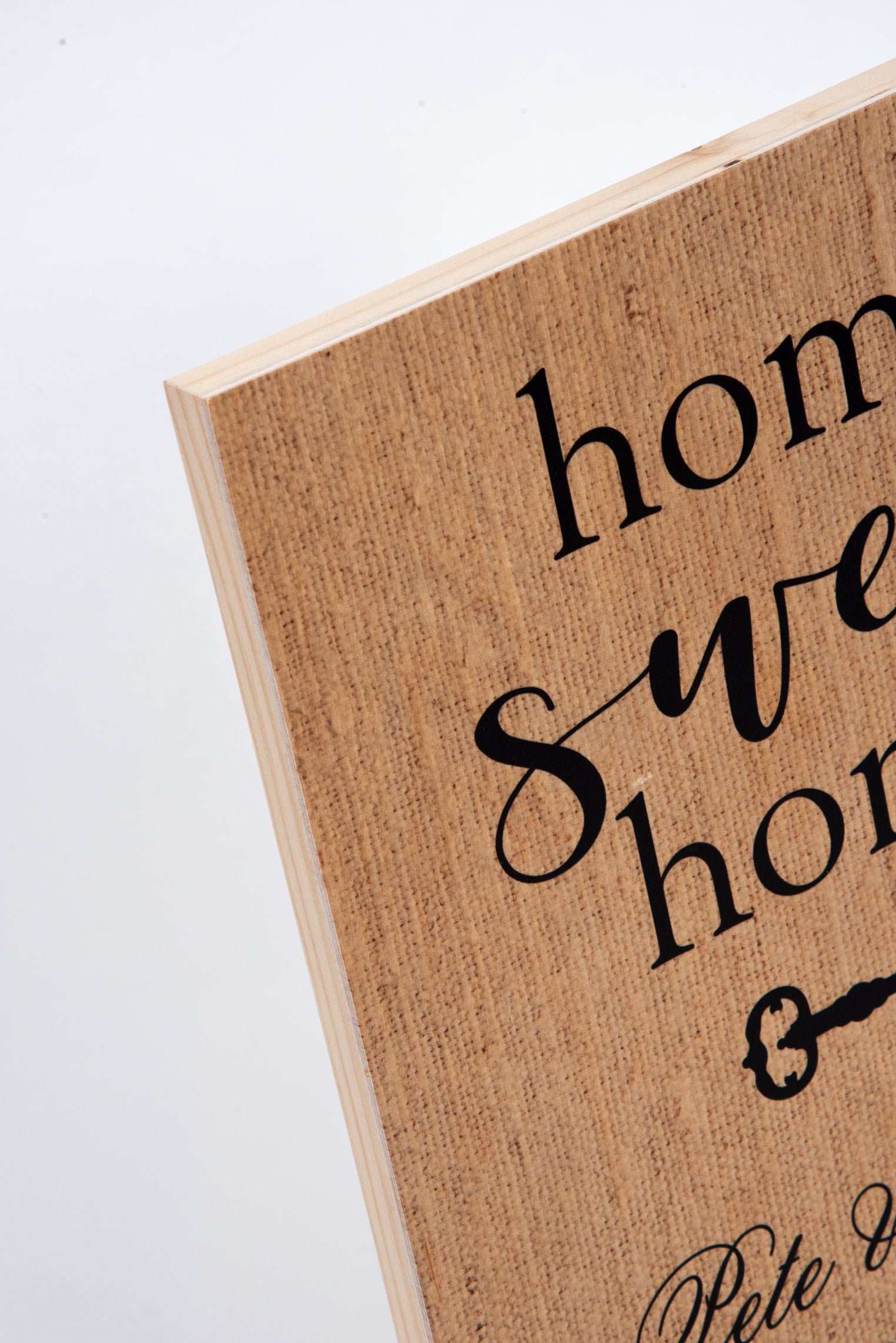 Home Sweet Home Wood Panel Sign