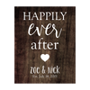 Happily Ever After Wood Panel Sign