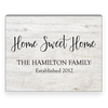 Home Sweet Home Whitewash Wood Panel Sign