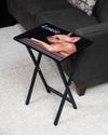Customize Your Own Design Tray Table, Black Finish