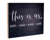 This is Us Wood Panel Sign