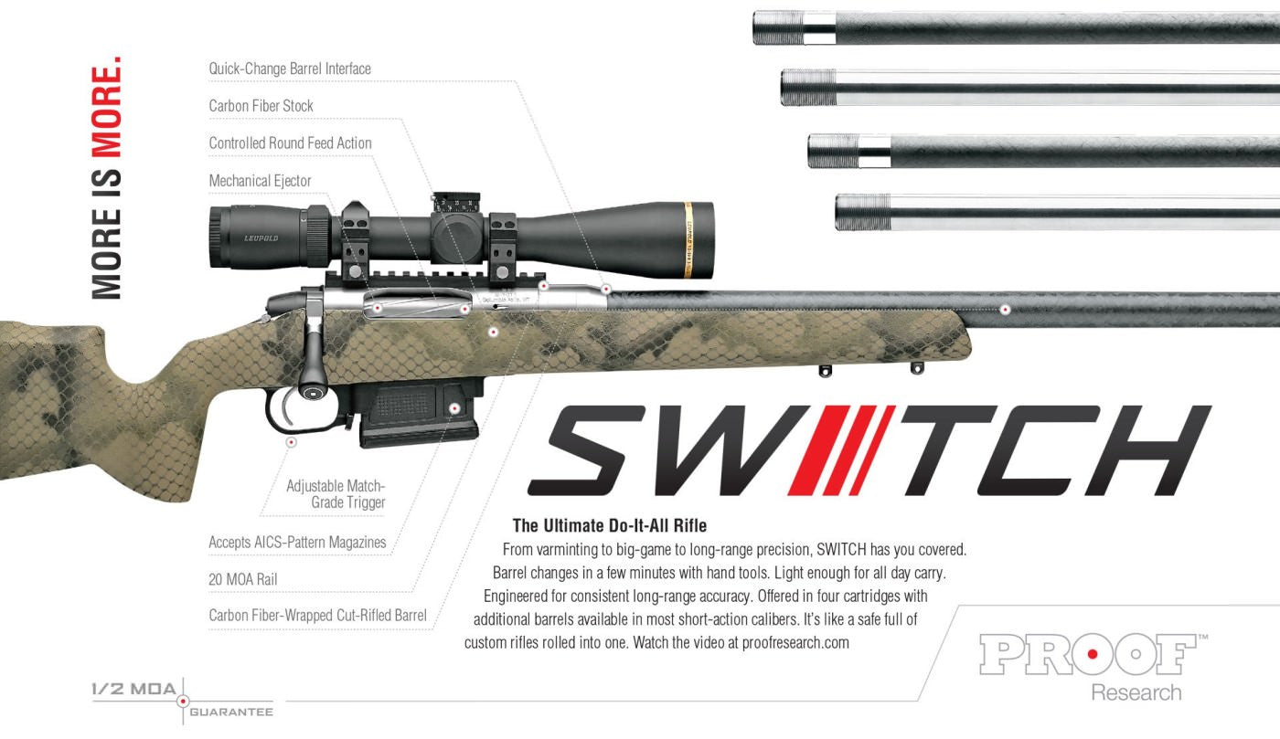 proof research switch rifle details
