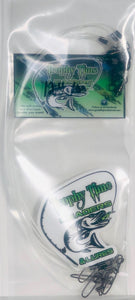 Trophy Time Leaders 12inch #100 fluorocarbon leader in pack of 5
