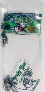 Trophy Time Leaders 12inch #120 fluorocarbon leader in pack of 5