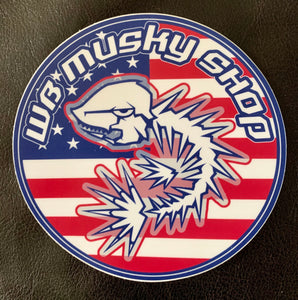 WB Musky Shop Limited Edition Patriotic Die-Cut Sticker