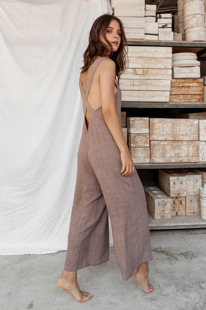 Aisha 100% Natural Dye Jumpsuit -Lilac