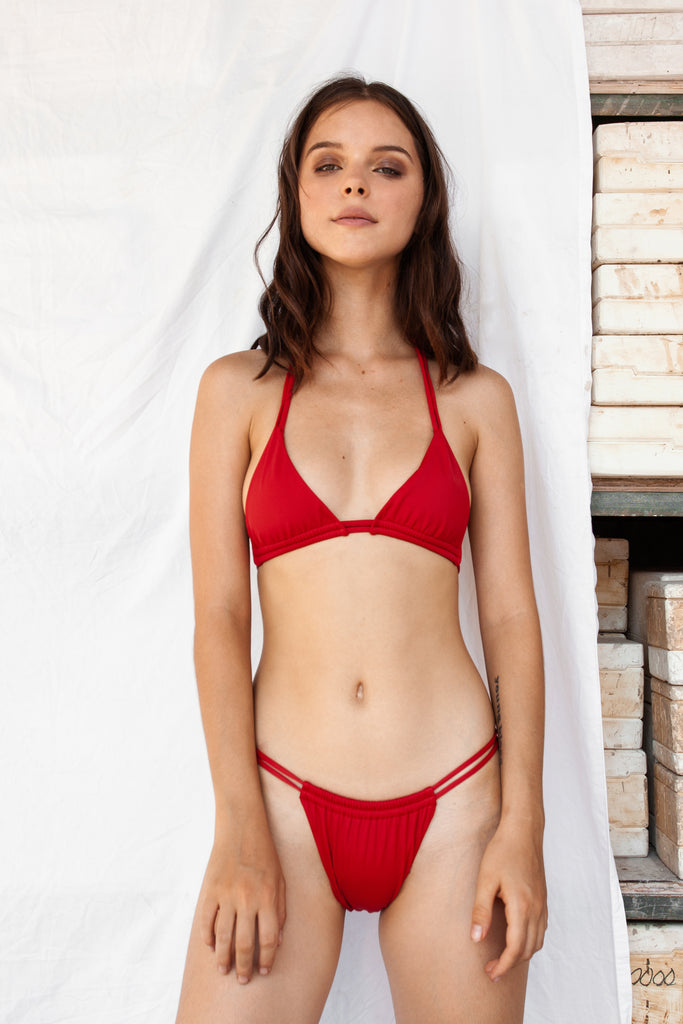 Java Bikini Top - Red