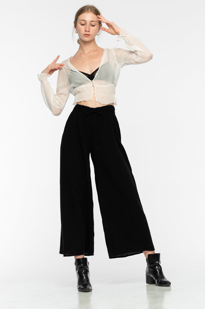 Akasha Cotton Pants - Black