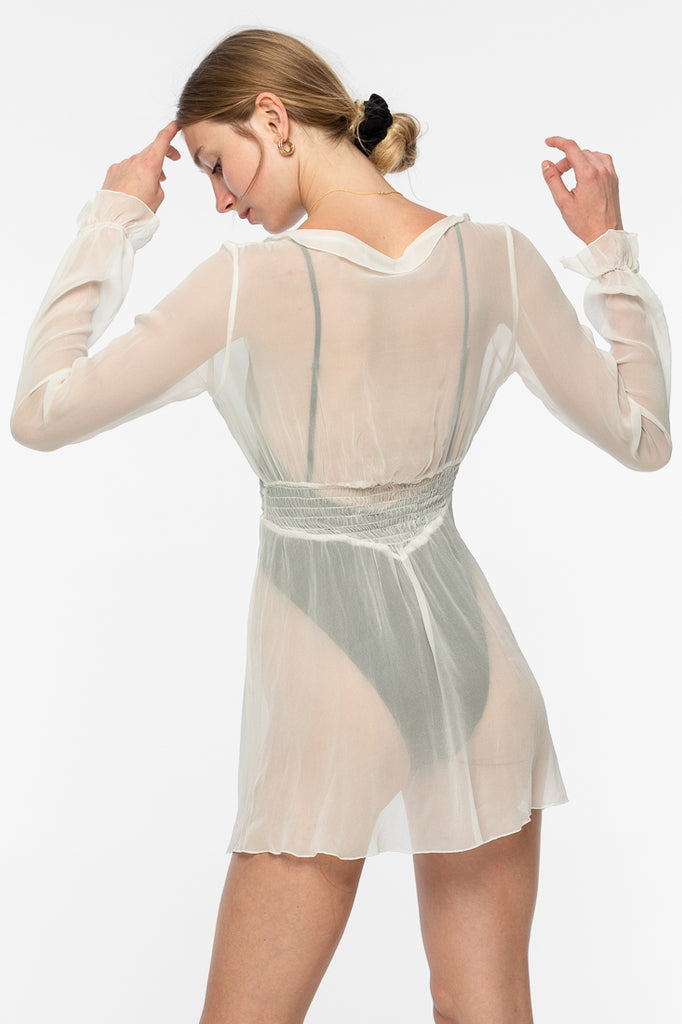 Andy Silk Chiffon Dress - White