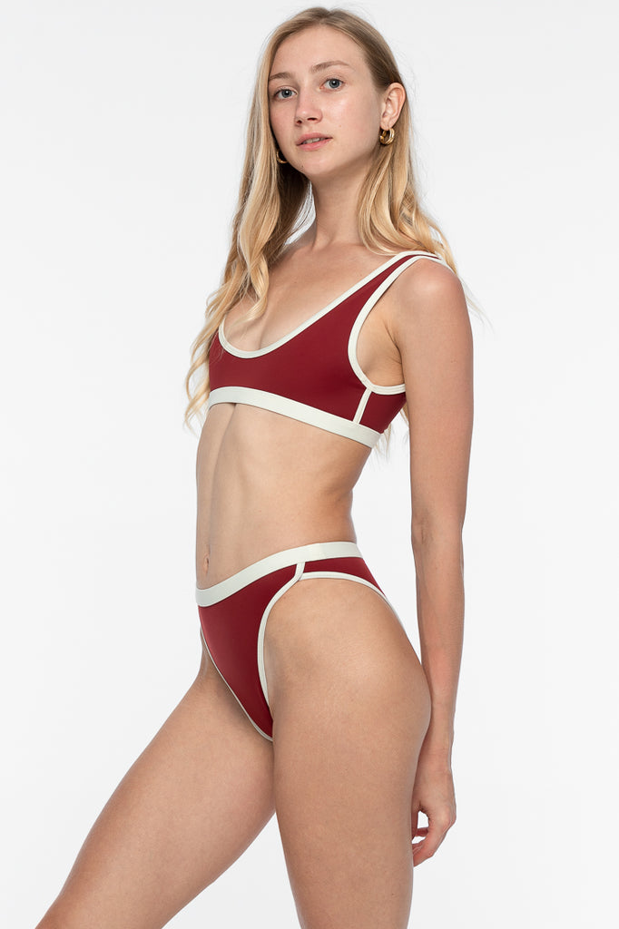 Venus Bikini Bottom - Deep Red