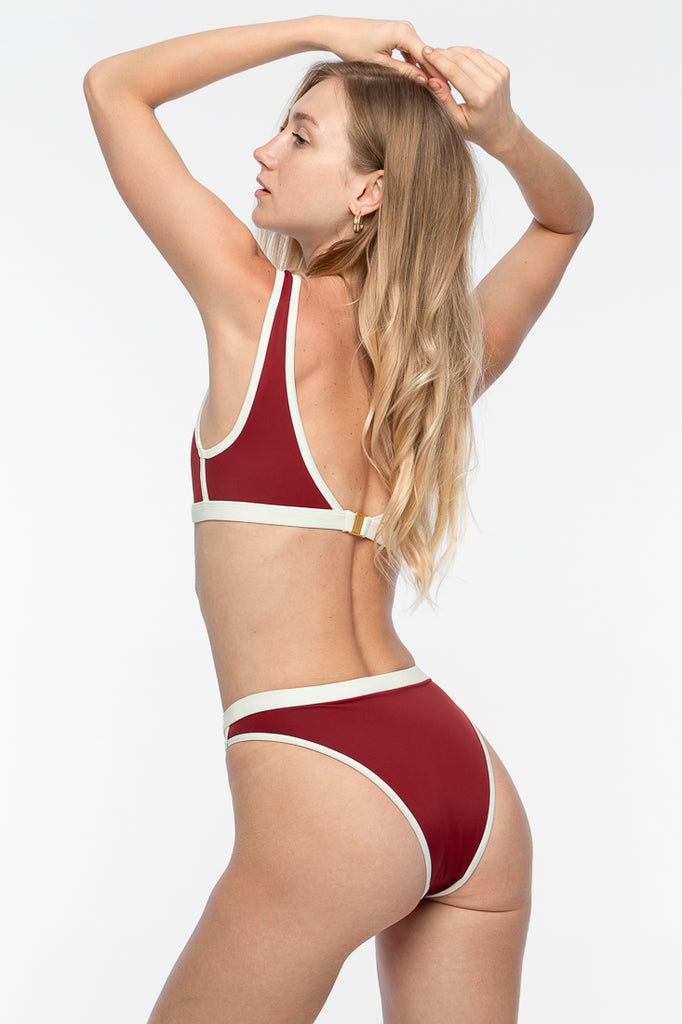 Serena Bikini Top - Deep Red
