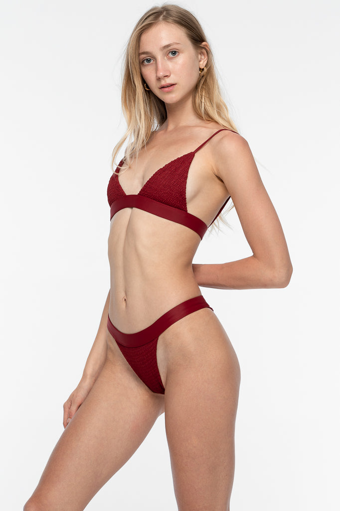 Amber Bikini Top - Deep Red