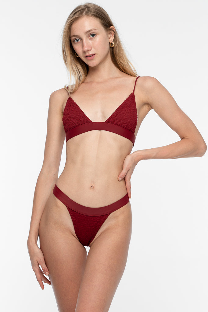 Luna Bikini Bottom - Deep Red