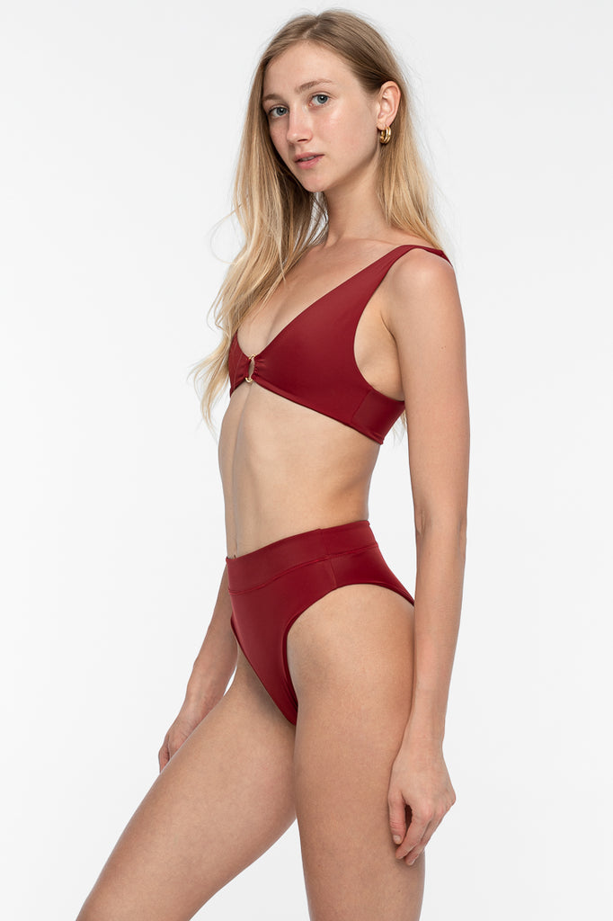 Kai Bikini Bottom - Deep Red