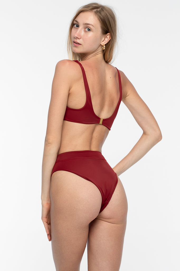 Kaia Bikini Top - Deep Red
