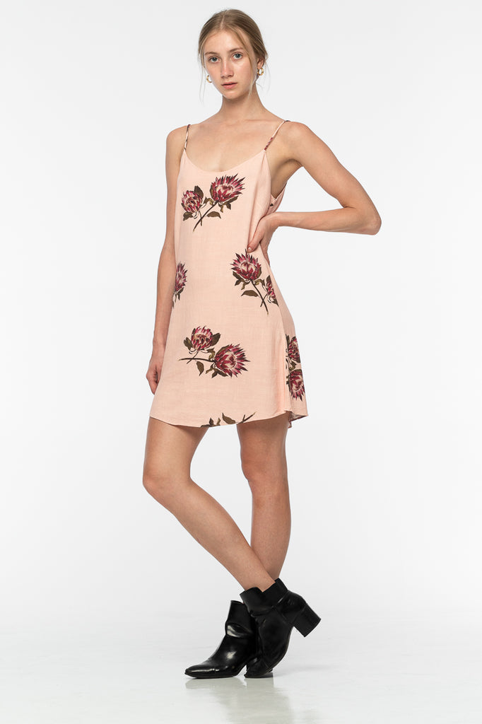 Porsha Linen Dress - Flower Print