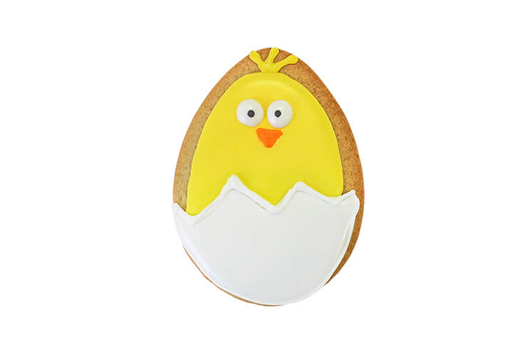 Chick Hatching Sugar Cookie