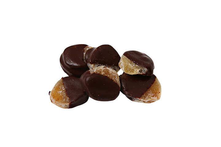 Crystallized Ginger Dipped in Dark Chocolate