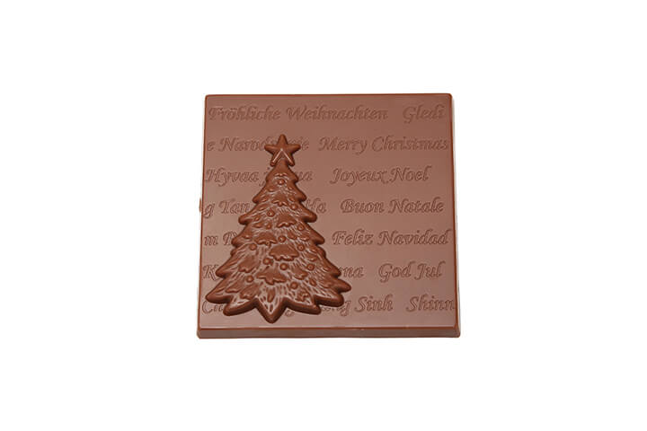 Milk Chocolate Christmas Card with Christmas Tree