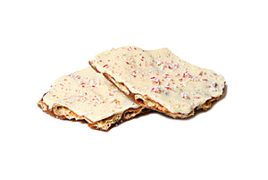 White Chocolate Peppermint Toffee Biscuit