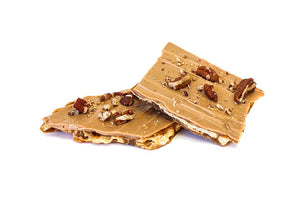 Caramelized White Chocolate Toffee Biscuit with Pecan