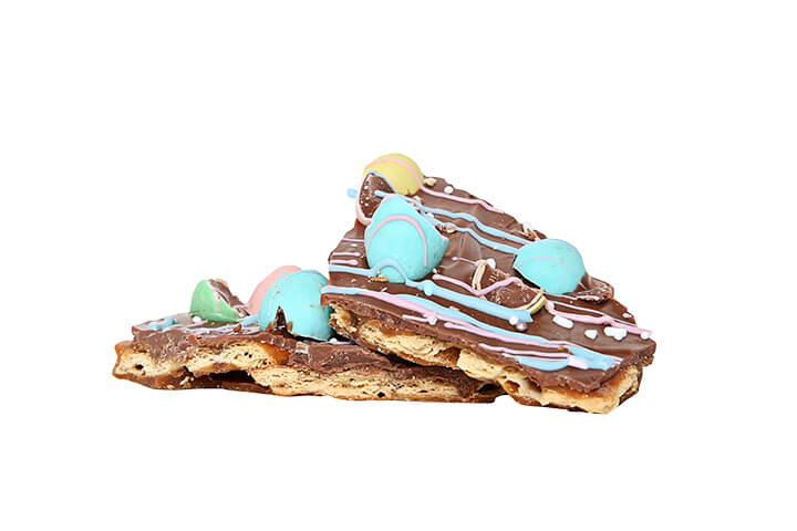 Milk Chocolate Toffee Biscuit with Mini Eggs