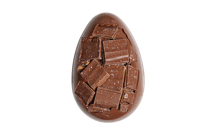 Milk Chocolate Egg with Milk Chocolate Salted Caramels