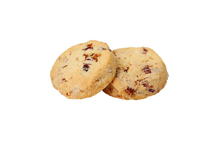 White Chocolate and Cranberry Toffee Shortbread