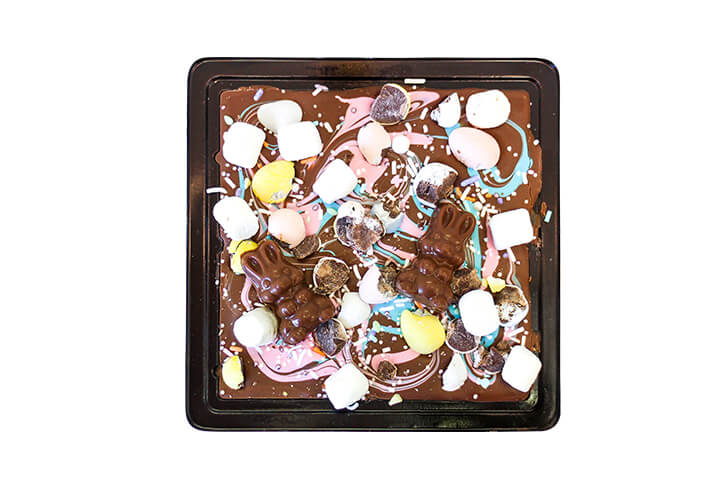 Milk Chocolate, Krispies, Marshmallows and Mini Eggs