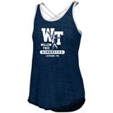 Ladies Advocate Tank - Navy/White