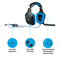 Logitech G430 Gaming Headset - Black