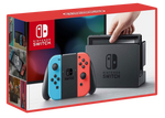 Nintendo Switch with Neon Red and Neon Blue Joy-Con