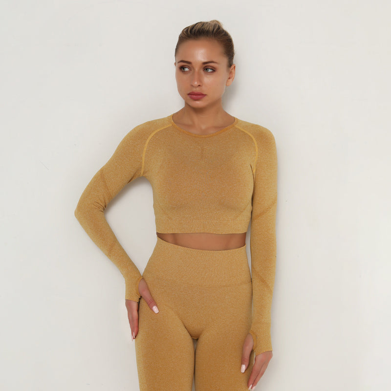 Astoria TEMPO Contour Sleeved Crop - Gold