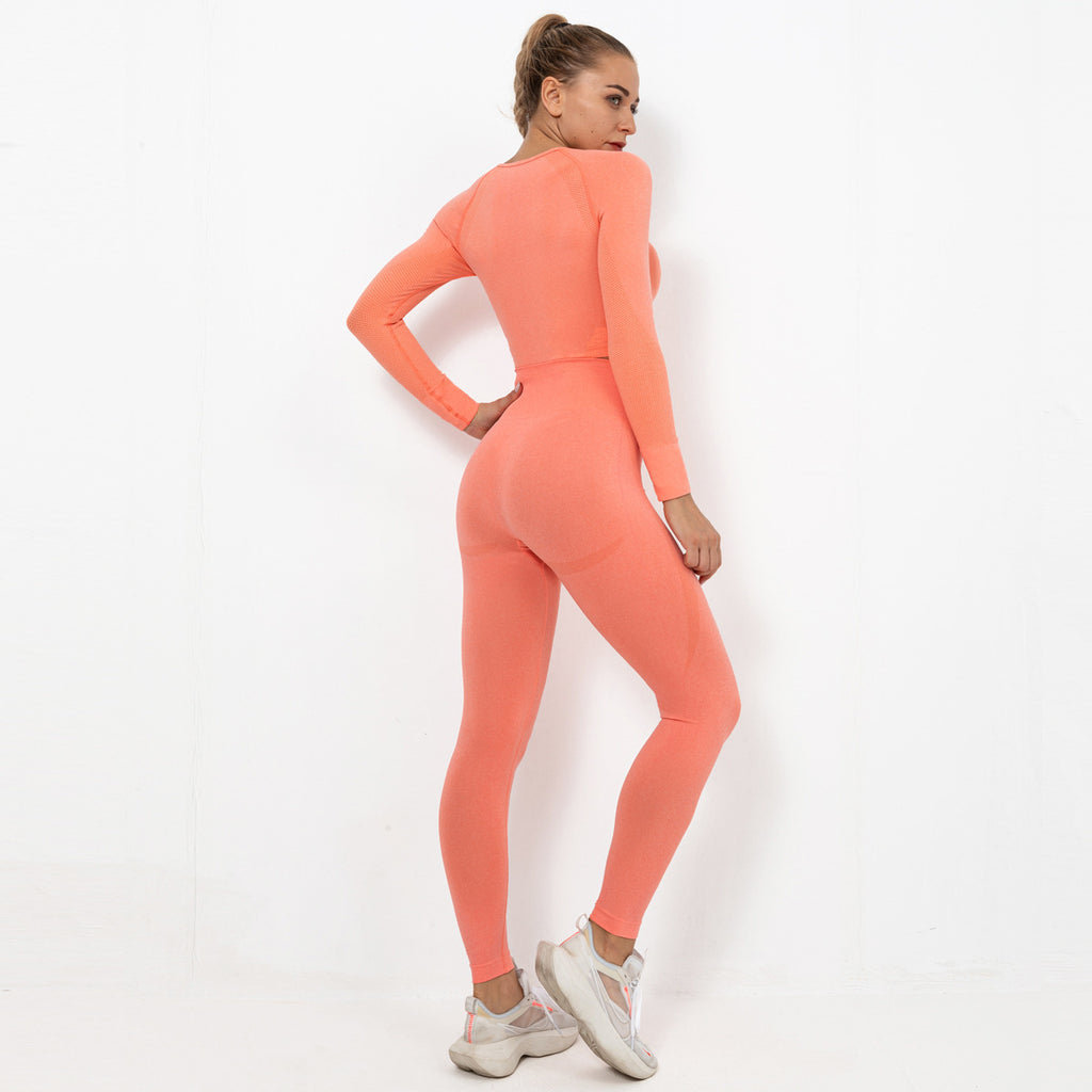 Astoria TEMPO Sleeved Crop - Bright Peach