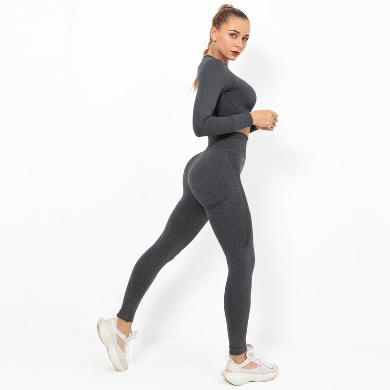 Astoria TEMPO Sleeved Crop - Charcoal