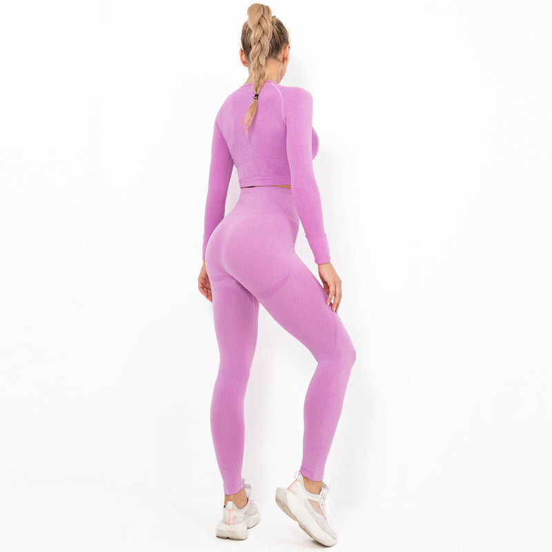Astoria TEMPO Sleeved Sports Crop - Taffy Pink