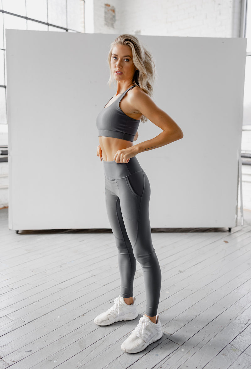 Astoria LUXE ESSENTIAL Sports Bra - Stone Grey